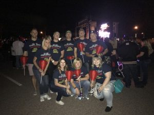 Our Phoenix and Corporate branches at Light the Night in Phoenix, AZ!
