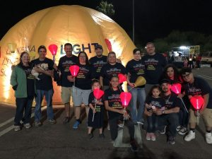 Our Phoenix and Corporate branches at Light the Night in Phoenix, AZ! DP Air Tucson walking for Light the Night!