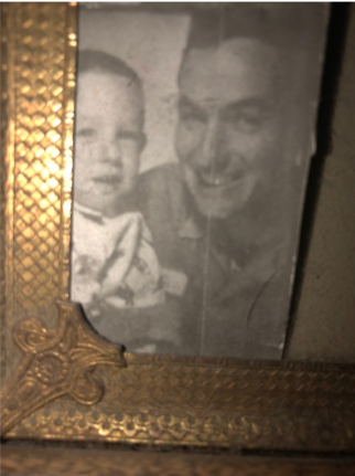 A young Raymond Jones with his father
