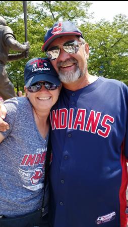 Jennifer Harler smiling with her father