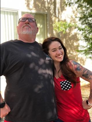 Stephanie Tanke with her father