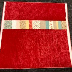 A red quilt