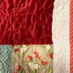 Quilt with different designs and patterns